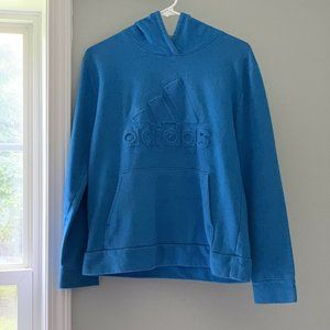 Adidas Boy's Blue Pullover Hoodie Youth